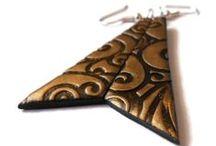 Polymer Clay Dangle Earrings by Calektra's Jewelry / https://www.etsy.com/uk/shop/CalektrasJewellery