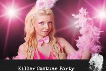 A Killer Costume Party / You have been invited to the Mansion for their spectacular Annual Costume Party! This evening is being hosted by Hugh and his girlfriends; Penny, Angel and Lilith. You won't want to miss this night of luxury and lavishness! This year's party will be particularly grand! Rumor has it one of the girlfriends will be gifted a very rare diamond called Black Orlov. The diamond has an intriguing history and is cursed. Hugh was ecstatic when the diamonds were located.