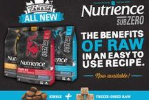 Nutrience SubZero / ALL NEW! Nutrience SubZero kibble + NUTRIBOOST™ freeze-dried raw formulas are made from Canadian-sourced meat and fish proteins and are made in Canada. Available in 3 Canadian regionally-inspired formulas!