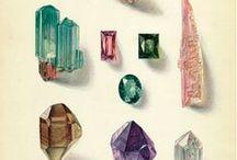 Mineralien Lithografien / Hier findest Du eine Sammlung lithografierter Mineralien, Edelsteine und Kristalle.