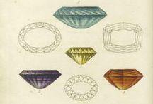 Edelsteine Lithorafien / Hier findest Du eine Sammlung lithografierter Edelsteine und Schmucksteine.