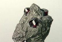 Mineralien Lithografien 2 / Lithografien von einzelnen Mineralstufen
