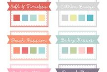 Colour Craft Inspiration / Find that perfect colour combination for your cards in this collection of inspiring palettes.