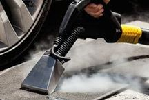 Car Steam Cleaning Applications / A variety of car steam cleaning applications with steam cleaner