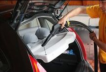 Car Interior Cleaning / Detail clean equipment and surfaces in car interiors