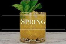 Spring Cocktails / Light, fruity, herbal cocktails for Spring.