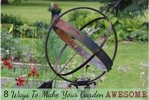 GARDEN Creative Ideas ♥ / Creative ideas for home gardens including choosing and arranging plants, garden art, garden junk, garden architecture, veggie gardening, and DIY projects.   / by Melissa @EmpressOfDirt.net  ❤