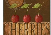COLLECTION | Cheerful Cherries / Red has been a long-time favorite color, and I love Mary Engelbreit, so a love of cherries has been a natural combination of the two!  It started as a kitchen theme, and has now spread throughout my entire house, including my daughters' wardrobes! / by Kim Puffpaff