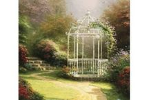ARTIST | Thomas Kinkade / The Painter of Light portrayed home, love, happiness, beauty - God.  It truly is a tragedy we have lost him so young - he was only in his early 50s when he passed away Spring 2012. / by Kim Puffpaff