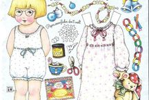 Collect | Paper Dolls / My aunt Penny loves paper dolls.  They make so many different kinds, they're very cute!