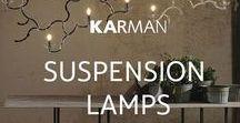 Suspension lamps & chandeliers / Discover all Karman suspension lamps and chandeliers present in our Lighting Catalogue.  #lightingdesign #homelightingideas #lamps