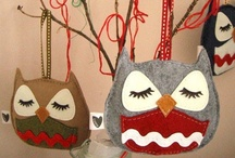 Christmas | Owls / I think this would be an adorable holiday decor theme!