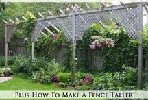 GARDEN Trellis & Structures ♥ / Creative trellis, arbors, screens, structures, gazebos, bridges, arches, raised beds, playhouses, sheds for plans or ideas for support, interest, privacy, vertical growing, and beauty.   / by Melissa @EmpressOfDirt.net  ❤