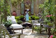GARDEN Backyards ❤ / Hey, what's back there in your yard? Garden decor, design, and art ideas to make your private space divine. / by Melissa @EmpressOfDirt.net  ❤