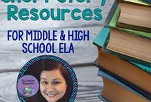 Short Stories Resources and Ideas / Tips, tricks, ideas, and resources for Middle and High School ELA that focus solely on short stories.