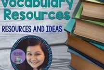 ELA Vocabulary Resources and Ideas