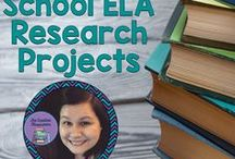 Middle School ELA Research Projects