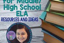 ELA Tasks Cards for Middle/High School