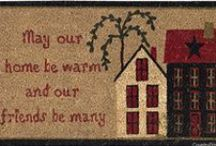 Doormats / Welcome mats that show your home's personality. Stop the mud and dirt. These make wonderful housewarming gifts.
