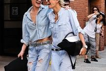 DOUBLE DENIM / Outfit inspiration for wearing denim from top to bottom.