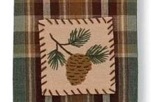 Cabin & Lodge Themed Towels / Just right for the cabin. These dishtowels make great gifts. Our customers also make pillow covers by just sewing right sides together and adding a pillow form. Ask us!