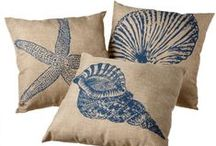 Beach Decorative Pillows / Pillows not only make a sofa or chair comfortable. They make a statement. Pillows also make wonderful hostess gifts. Change out many of our pillows with popular pillow covers. Ask us!