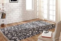 Area Rugs / Most of these rugs are available either rectangle or oval and they all come in various sizes.