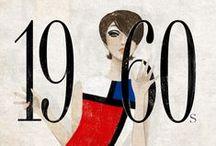 Década de 60 / Twiggy; Vinil; mini-saias e vestidos bem curtos; vestido linha A; Consciência Afro, cabelo comeia; Vestido Mondrian;