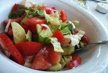 Ensaladas {SinGlutenPorFavor} / Ricas y variadas ensaladas, condimentadas de manera diferente y sin gluten