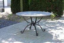 Hardstenen tuintafels / Top kwaliteit natuurstenen tafelbladen