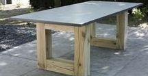 Granieten tuintafels / Granieten tafelbladen