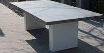 Betonnen tuintafels / Exclusieve beton tafels