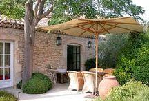 Living Outside / Patios, Verandahs, terraces, terrasses and all lovely outside living spaces