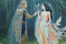 Elfy i Silmarillion / Zdjęcia, arty, rysunki z elfami i postaciami ze Silmarillionu.