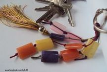 keychains and bag charms / handmade jewellery by KJM ....the natural choice