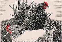 Last night I dreamed of chickens ... / ... there were chickens everywhere.  They were standing on my stomach, they were nesting in my hair, they were pecking at my pillow, they were hopping on my head, they were ruffling up their feathers as they raced about my bed.  Jack Prelutsky
