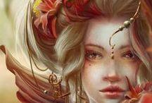 Fantasy / Enchanted world - fantasy art, photo, illustrations, game art, characters.