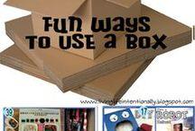 Cardboard box crafting inspiration