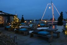 Winter/christmas / Terrace-inside-christmas-winter-evening-lake