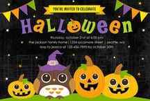 Lee Paperie Halloween Invitations / Digital downloadable Halloween invitations by Lee Paperie