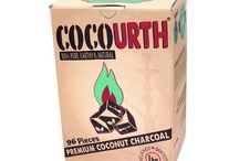 Natural Organic Coconut Hookah Charcoal / A collection of natural hookah charcoal made of coconut shell. These coals provide quality hookah sessions and are scentless and tasteless. Pure coconut shell charcoal at Oxide Hookah