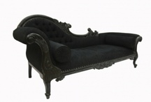 Stylish Black Furniture from Chichi / Stunning pieces of furniture fininished in stylish Moulin Noir black - a chic addition for your home!