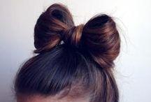 Hair / Hairstyles, hair colours, pretty hair accessories.