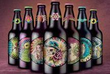 Beer Label and Packaging Design / Craft Design / Labels proposal for breweries. Tools: Ink and ecoline / Adobe photoshop Genre: packaging, craft design, product design, beer bottle design, illustration, label.