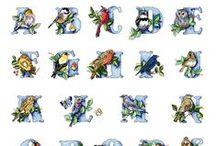 Alfabeti a punto croce / alfabeti, alfabeti e ancora alfabeti