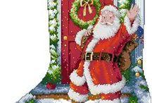 Calze di Natale / schemi a punto croce