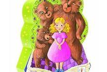 RICCIOLI D'ORO e i 3 orsetti / disegni per scuola infanzia