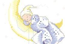 bimbi, bambini e neonati / Schemi a punto croce