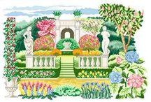 Giardini e parchi / punto croce