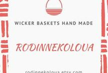 Wicker baskets hand made RodinneKoloUA / Wicker baskets hand made, original baskets for decor